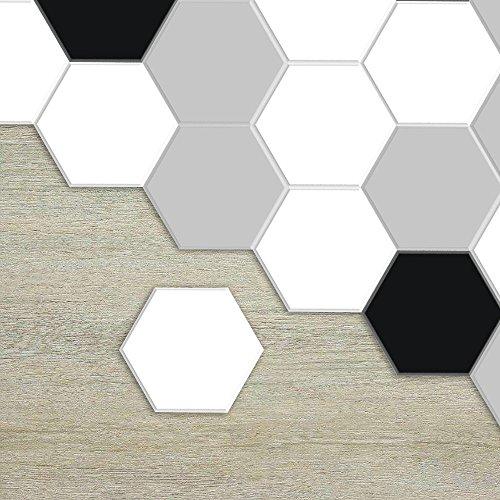 Lunghezza: 11,5 cm di diametro: 23 cm APSOONSELL Piastrelle Adesive Pavimento Esagonale-Shaped PVC geometrico grigio Impermeabile Decorazione per Cucina Bagno Fai da Te Set di 10 Pezzi