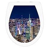 wc-gestalten.de | WC Sitz Aufkleber Skyline New York