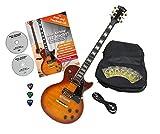 Rocktile Pro L-200OHB Guitare électrique Orange Honey Burst avec accessoires