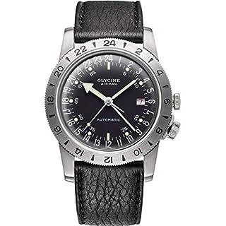 Glycine Airman Herren Uhr analog Automatik mit Leder Armband GL0162