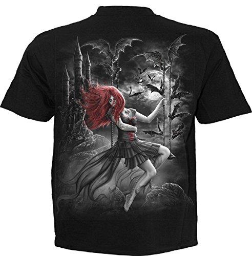 Spiral Queen of The Night T-Shirt Schwarz Schwarz