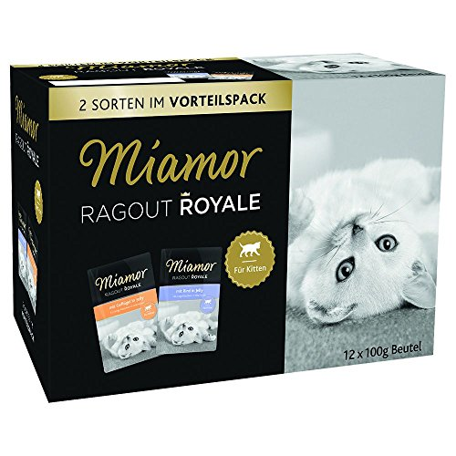 Miamor Ragout Royale in Jelly Kitten Multi Box, Confezione da (4 X 1.2 kg)