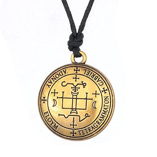 Collar con colgante de amuleto talismán de Wicca el Sigil del Arcángel Gabriel