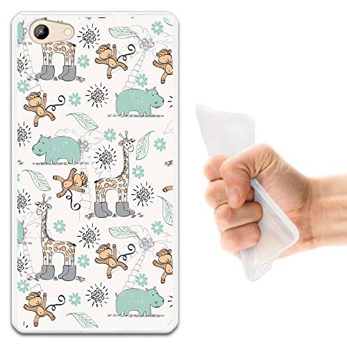WoowCase Doogee Y300 Hülle, Handyhülle Silikon für [ Doogee Y300 ] Tiere Giraffe, AFFE & Nashorn Handytasche Handy Cover Case Schutzhülle Flexible TPU - Transparent