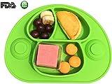 Super Saugen Rutschfeste Tischunterlage Platzmatte aus Silikon, super geeignet zum Essen lernen für Babys und Kleinkinder, Babyteller Tischset Babyschale Kinderteller, Perfekt für Hochstuhl