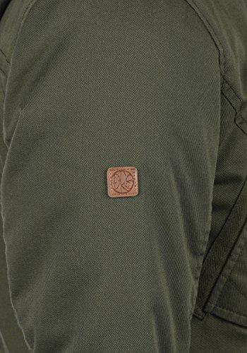 DESIRES Alma Damen Parka Winterjacke lang Mantel mit Teddy-Futter und Fellkragen aus hochwertiger Materialqualität Ivy Green (3797)