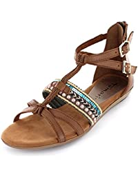 Tamaris Damen 28126 Offene Sandalen mit Keilabsatz