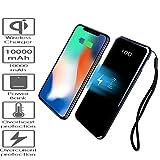 BETTERSHOP  [QI-CERTIFIED] powerbank LEISTUNGSBANK 10000MAH DRAHTLOSER, 2 TELEFONE GLEICHZEITIG LADEN KOMPATIBEL MIT QI-GERÄTEN APPLE IPHONE 8 8 PLUS X, SAMSUNG GALAXY S6 S7 S8 S9 / EDGE