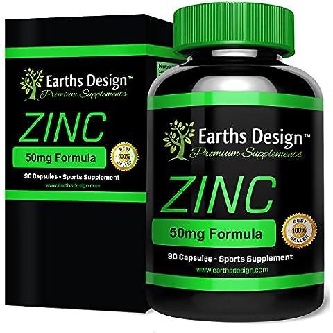 Zinco Gluconato, integratore di minerali che stimola la fertilità maschile, favorisce la crescita dei capelli (Uomini 50 Multi Vitamina)