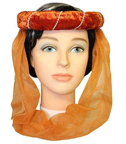 Stirnreif mit Perlenkette & Schleier vorn kupfer, silber, kupfer