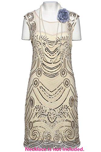 Babeyond Frauen Flapper Kleider Zwanziger Jahre Sequined Beaded Große Gatsby Kleid Abbildung 2