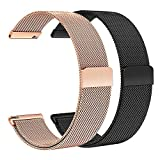 TRUMiRR Galaxy Watch Active 40mm/Galaxy Watch 42mm Bracelet de Montre,20mm Bande de Montre Bracelet Montre magnétique pour Samsung Galaxy Watch Active 40mm,Galaxy Watch 42mm(Paquet DE 2)