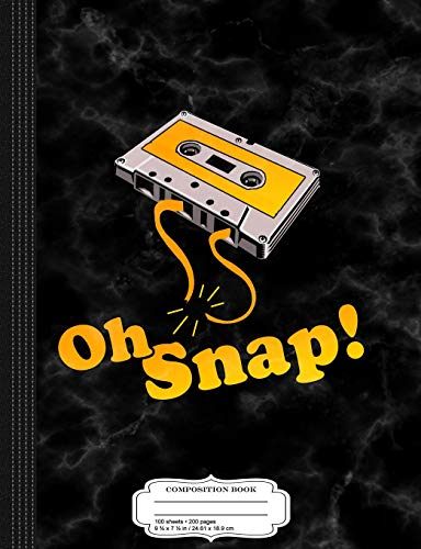 Retro-oh Snap (Oh Snap Audio Cassette Composition Notebook: College Ruled 9¾ x 7½ 100 Sheets 200 Pages For Writing)