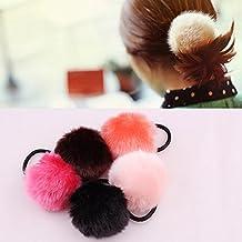 Diadema linda bola de pelo Yesmile ❤ Banda para el pelo de piel de conejo