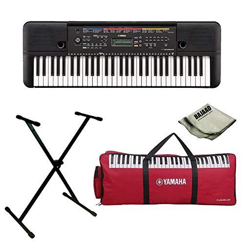 Yamaha PSR-E263 Portable Keyboard Bundle with Stand, Gigabag and Polishing Cloth