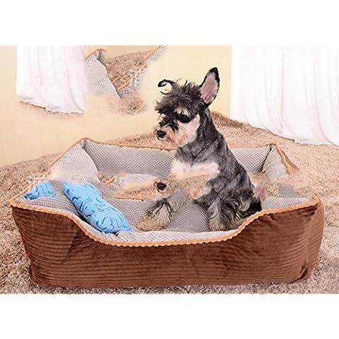 WXX Full extraíble Invierno perro, mediano y grande de caseta perro Pet small marrón