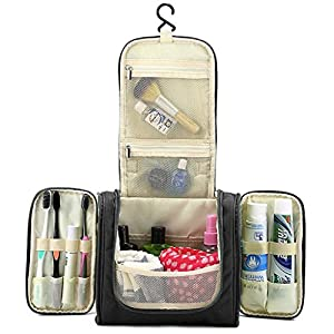 Hipiwe Travel Toiletry Bags Organizer for Women Cosmetic Makeup or Men Shaving Kit Washable
