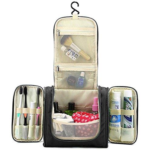 Hipiwe Beauty Case da Viaggio Borsa da Toilette Impiccagione Outdoor Pratico Cosmetici Borsa da Viaggio per Accessori Bagno (Nero)