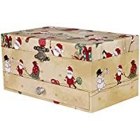 Songmics Portagioie per bambini Musicale Motivo del Babbo Natale con Specchio per Regalo Natale JMC001