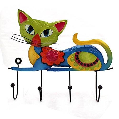 Gall & Zick - Wandhaken Schlüsselbrett mit Katze liegend - 4 Haken