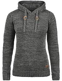 280168d31a DESIRES Philla Damen Strickpullover Grobstrick Pullover Mit Kapuze Aus 100%  Baumwolle