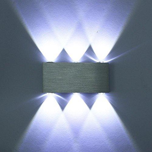 Lightess Innen Wandleuchte 6W kalt weiß LED Modern Flurlampe Wandbeleuchtung Nachtlicht für Whonzimmer Schlafzimmer Lampe