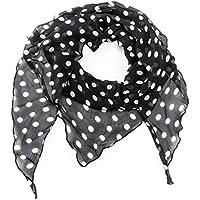 ManuMar Dreiecks-Schal für Damen | feines Hals-Tuch in Unifarben und Motiven als perfektes Sommer-Accessoire | Dreiecks-Tuch - Das ideale Geschenk für Frauen