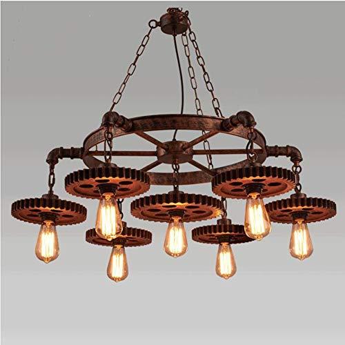 FUBEN 7 têtes rustique lustre suspension industrielle lumière multiples luminaires linéaires de plafond suspendu réglable pour cuisine île salon bar