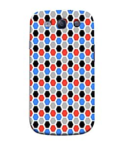 PrintVisa Designer Back Case Cover for Samsung Galaxy S3 I9300 :: Samsung I9305 Galaxy S Iii :: Samsung Galaxy S Iii Lte (Pattern checks black grey diamonds)