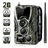 Wildlife Trail Kamera 2G-Nachlaufkamera 16MP 1080P Wildlife Camera Trap 2.0''LCD mit Infrarot-Nachtsicht bis zu 65ft / 20m IP65-Spray wasserdicht für Outdoor-Natur, Garten, Haussicherheitsüberwachung