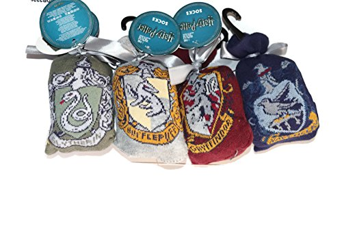 Harry Potter Gryffindor Hufflepuff Ravenclaw Slytherin Sock in a Sock bag
