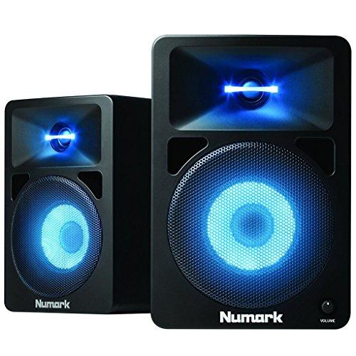 Numark N-Wave 580L - Monitores de DJ de Sobremesa Compactos de Rango...
