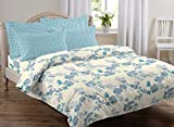 #9: AURAVE Multicolor Floral Design Pattern Reversible Premium Cotton Duvet Cover/Quilt Cover -King Size