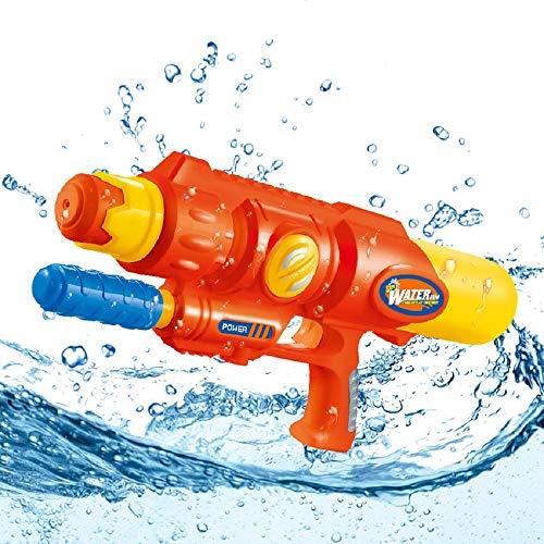 BBVA Große Wasserpistole Wasserschießen Spielzeug Eltern-Kind-Spiel Küste Strand Lange Reichweite und Große Kapazität Sommer Heißer (Color : Red , Size : M )
