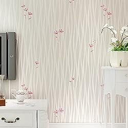 jedfild solid-stripe sala de estar pared papel idílico Floweret gamuza de papel pintado caliente romántico dormitorio matrimonio habitación fondo papel pintado, M), color blanco