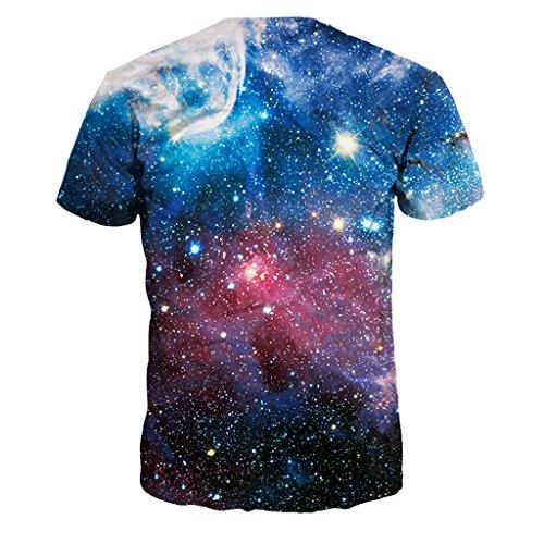 Jiayiqi Bunte 3D Cartoon Gedruckt Kurzarm T-Shirt Mode Paar Tees Sterne