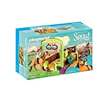 Playmobil DreamWorks Spirit 9478 Lucky and Spirit with Horse Stall for Children Ages 4+