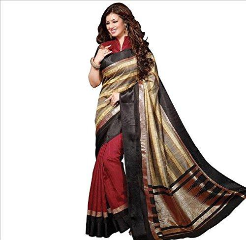 ( AG Lifestyle Bhagalpuri art silk printed saree-42 ) Sari  available at amazon for Rs.300