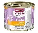 Animonda Integra Protect Diabetes mit Geflügel | Diät Katzenfutter | Nassfutter bei Diabetes mellitus (6 x 200 g)