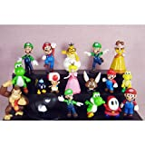 18pcs Set 1-3' Super Mario Bros Figure Toy Doll Pvc Figure Collectors By sanlise