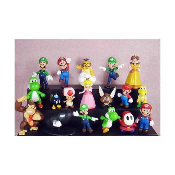"""18Pcs Set 1-3"""" Super Mario Bros Figure Toy Doll Pvc Figure Collectors By Sanlise 1"""