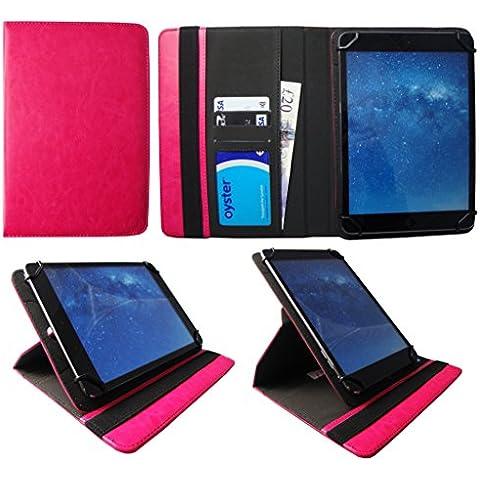 CELLO 10 Pollici Tablet Rosa Universale 360 Gradi di Rotazione PU Pelle Custodia Case Cover di Sweet Tech