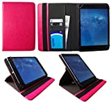 AlpenTab Almrausch 10.1 Zoll Tablet Rosa Universal 360 Grad Drehung PU Leder Tasche Schutzhülle Case von Sweet Tech