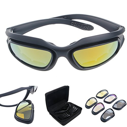 Weishazi Sonnenbrille, winddicht, polarisiert, für Motorradfahren, Radfahren, Radfahren, Sport