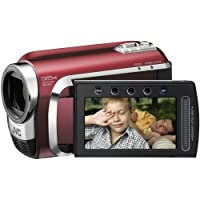 JVC GZ-MG630R Hybrid Camcorder With microSD slot & 60GB Hard Disc Drive With Konica Minolta Lens & 35x Optical Zoom - Red
