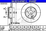 ATE 24.0312-0167.1 - Disque de frein Power Disc