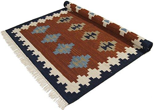 Galleria Farah 1970 - 180x120 Cm Alfombras kilim INDIAN MADE Ideal para la cocina sala de estar -