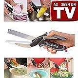 Clever Cutter–Küchenmesser mit integriertem Schneidebrett: Gemüse, Obst, Käse usw.