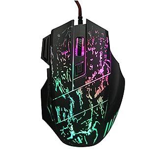 ajusen Ergonomie Professional 7Beruhigende LED Farben Optische 7200dpi 7Taste USB Wired Gaming Maus für Pro Spiel Notebook, PC, Laptop, Computer