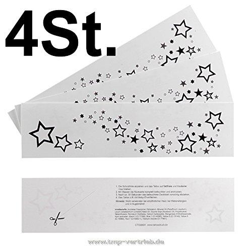 4 x stella tatuaggio bow - rihanna tattoo star - stelle